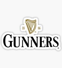 Arsenal Gunners Beer Style Tee Sticker