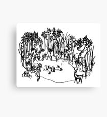 Forest Pool Canvas Print