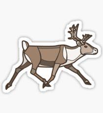 Geometric Reindeer / Caribou Sticker