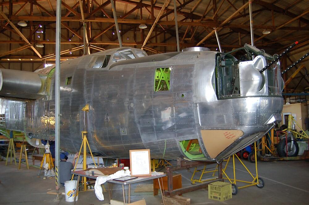 B24 Liberator under restoration. by Dave  Miller