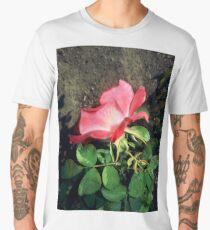 pink n white rose with dirt 09/24/17 Men's Premium T-Shirt