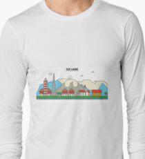 Iceland, Reykjavik City Skyline Design T-Shirt