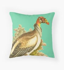 Spur Winged Water Pur  - Bird HD vintage image from encyclopedia number 16 Throw Pillow