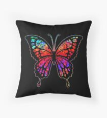 Psychedelic Butterfly Floor Pillow