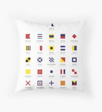 Nautical Flags: International Code of Signals Throw Pillow