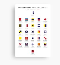 Nautical Flags: International Code of Signals Canvas Print