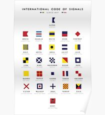 Nautical Flags: International Code of Signals Poster
