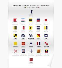 Seeflaggen: Internationaler Code der Signale Poster