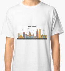 India, Mumbai City Skyline Design Classic T-Shirt