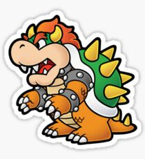 Bowser stickers redbubble - Comment dessiner peach ...
