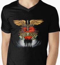 Bon Jovi V Neck Men's T-shirt
