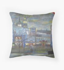 When Night falls / On The Beautiful City Streets           ( My Paintings )  Throw Pillow