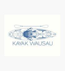 Kayak Wausau - Blue Art Print