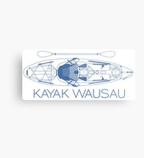 Kayak Wausau - Blue Metal Print