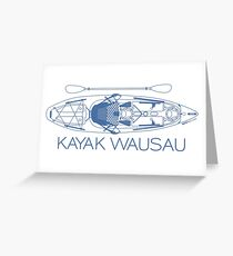 Kayak Wausau - Blue Greeting Card