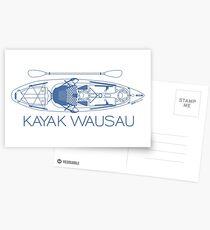 Kayak Wausau - Blue Postcards