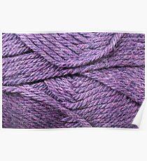 Royal Purple Yarn Texture Close Up Poster