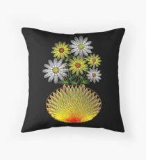 String Art Flowers Throw Pillow