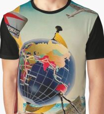 IMPERIAL AIRWAYS : Vintage Airline Advertising Print Graphic T-Shirt