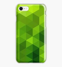 Abstract Green Poly Background iPhone Case/Skin