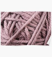 Earth Tone Yarn Texture Close Up Poster