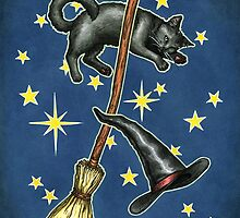 Everyday Witch Tarot - Back of Card Design by Elisabeth Alba