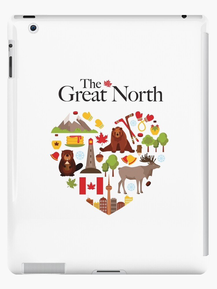The Great North With Beaver Moose And Other Canadian Symbols