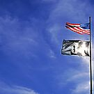 Cemetery and Flags- Post, Texas by StonePics