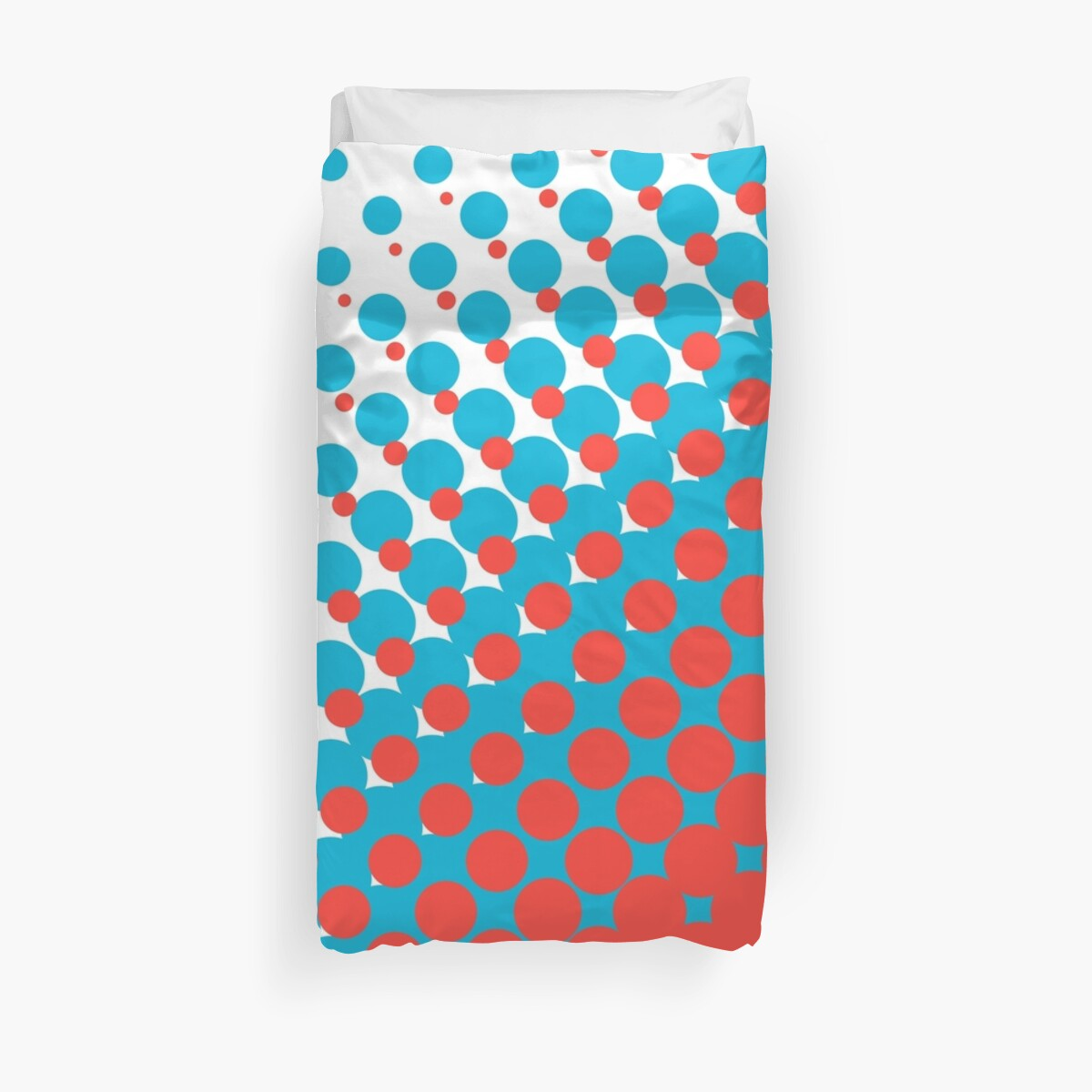 Blue and red halftone pattern by IonCannon