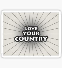 Love Your Country Sticker