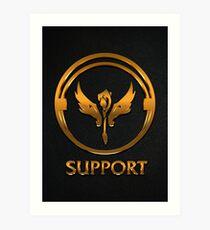 League of Legends SUPPORT [gold emblem] Art Print