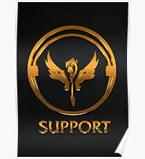 League of Legends SUPPORT [gold emblem] Poster