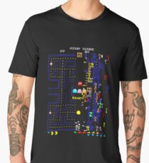 Pac Man Glitch Print Men's Premium T-Shirt