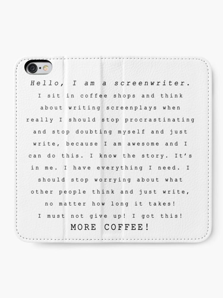 Alternate view of Screenwriters (Typewriter II) iPhone Wallet