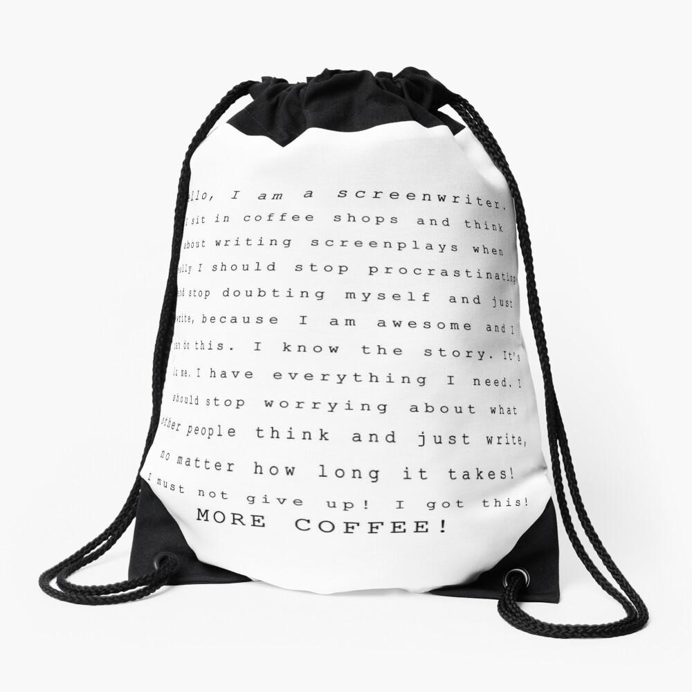 Screenwriters (Typewriter II) Drawstring Bag
