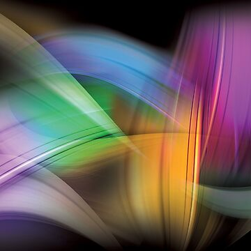 Magnetic Light Flux Abstract by CreativeBytes