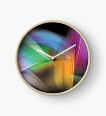 Magnetic Light Flux Abstract Clock