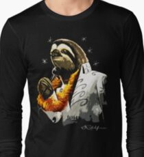 Black Velvet Painting Sloth  T-Shirt