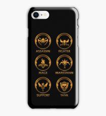 League of Legends Roleplay Teambuilder [gold emblems] iPhone Case/Skin