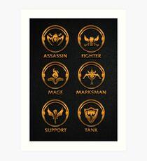 League of Legends Roleplay Teambuilder [gold emblems] Art Print