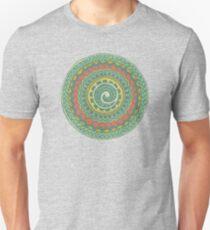 Ornate Tribal Polynesian Zentangle Mandala Tattoo (vintage green) T-Shirt