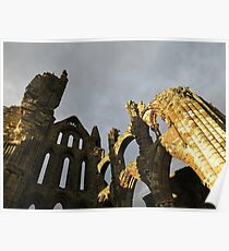 Whitby Abbey on a summers evening Poster