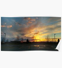 LG G5 Spring Sunset Poster