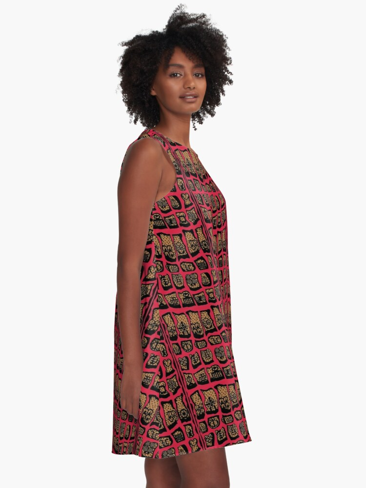 Alternate view of Cardinal Rules A-Line Dress