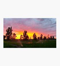 LG G5 Sprinkler Sunset Photographic Print