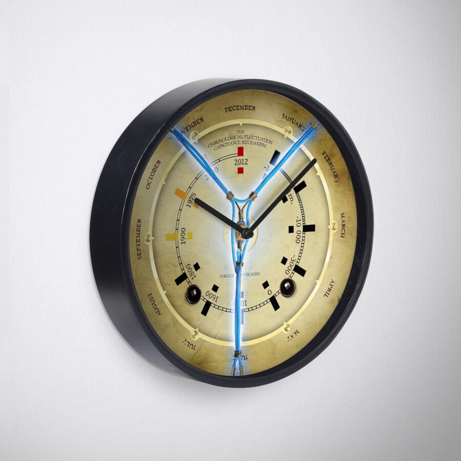 Steampunk time travelling flux capacitor wall clock clocks by steampunk time travelling flux capacitor wall clock amipublicfo Images