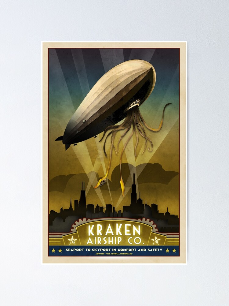 Alternate view of Steampunk Airship: Admiral Rosendahl Poster