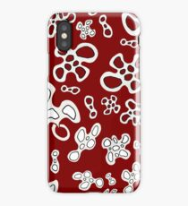 Amoeba red wine black and white pattern iPhone Case/Skin