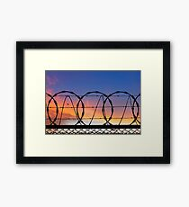 Freedom and Security.  Framed Print