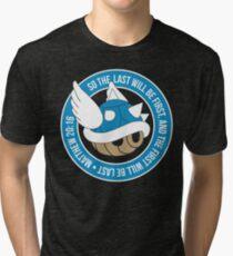 Camiseta de tejido mixto Caparazón de tortuga azul